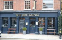 The Britannia pub near high street Kensington